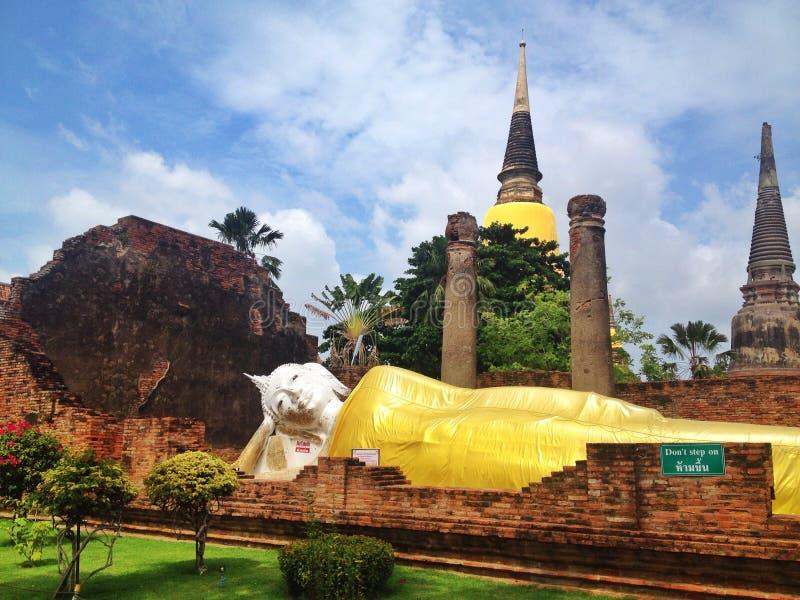 Temple in ayutthaya - Thailand royalty free stock photos