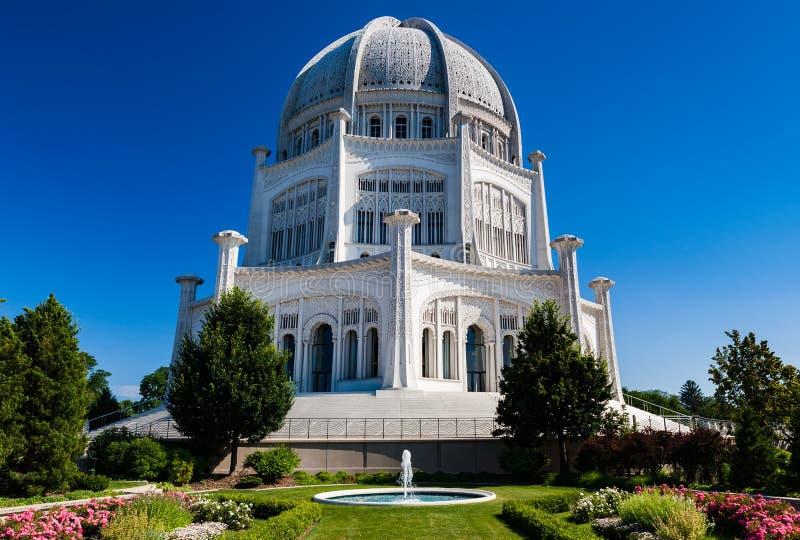 Temple Bahai image stock
