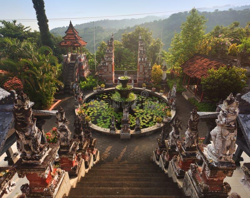 Temple Bali de budhist de Banjar images stock
