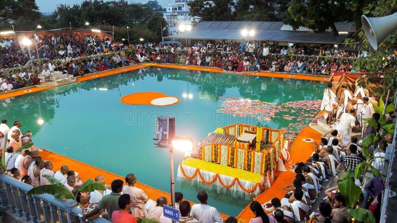 Temple Bangalore d'ISKCON images libres de droits