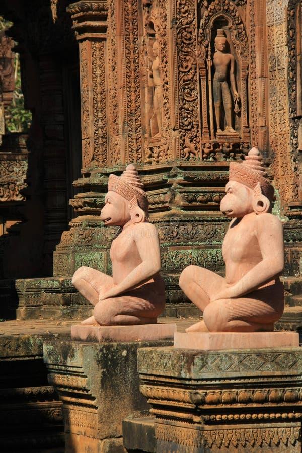 temple banteay de srey d'angkor photographie stock