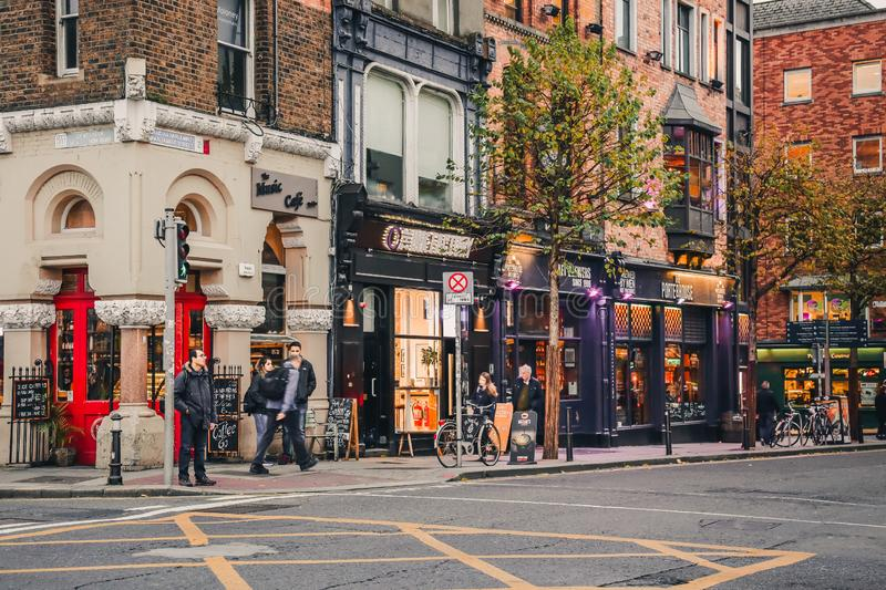 Temple Bar area in Dublin, Ireland. stock photography