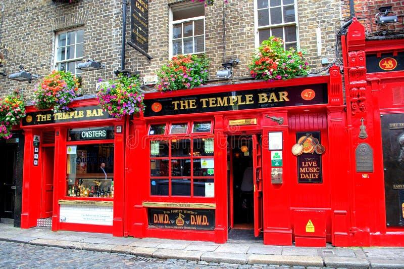 Temple Bar in Dublin, Ireland stock images