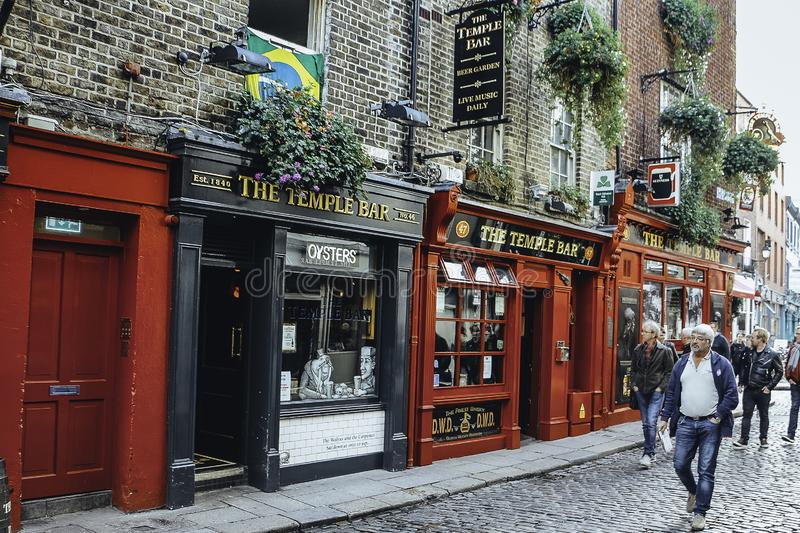 Temple Bar, Dublin, Ireland - October 14, 2016 stock image