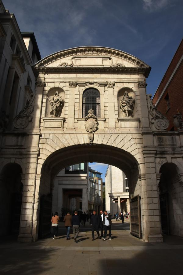 Temple Bar, London, England, October 6th, 2017 royalty free stock photo