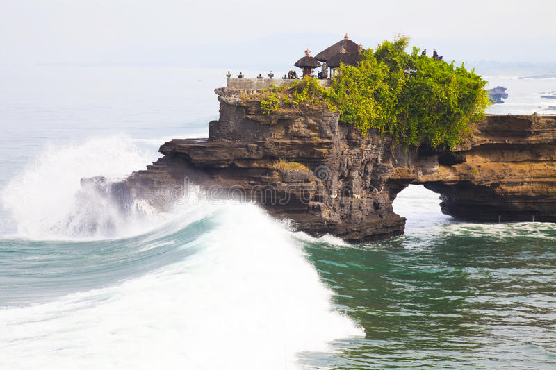 Temple by the Beach, Bali, Indonesia stock photography