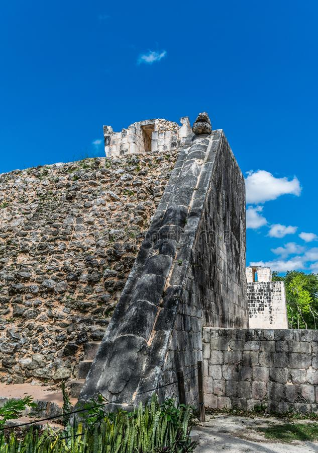 Temple of the Bearded Man in Chichen Itza, Mexico stock photos
