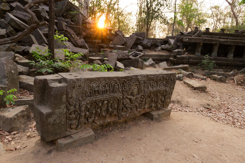 Temple Beng Mealea, Angkor Vat, Cambodge image libre de droits