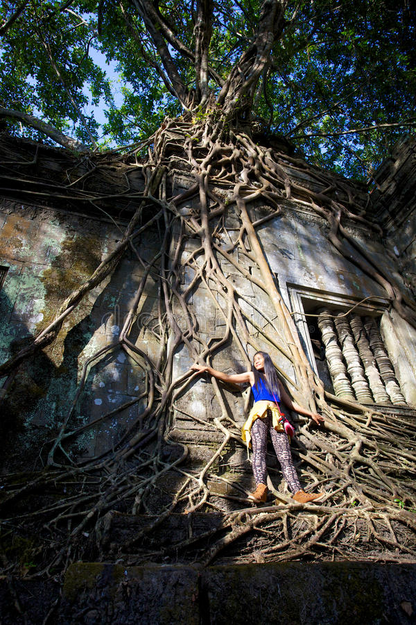 Temple Beng Mealea. Cambodge photographie stock