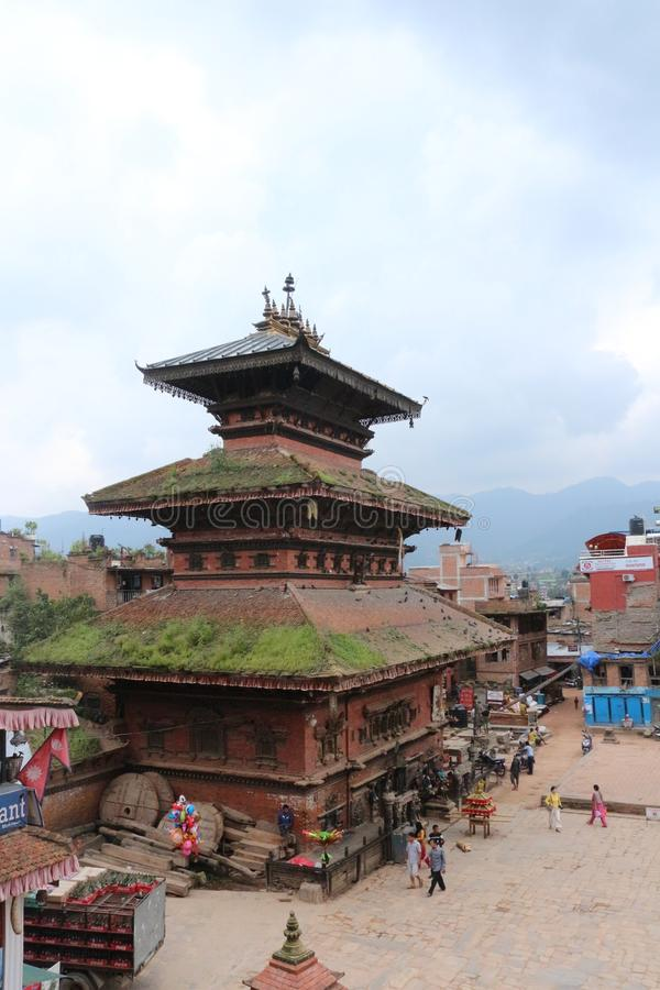 Temple in Bhaktapur near Kathmandu, Nepal stock photos