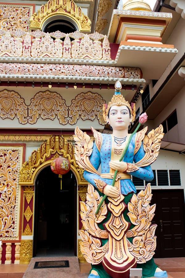 Temple birman de Dhamikarama à Penang, Malaisie photographie stock libre de droits