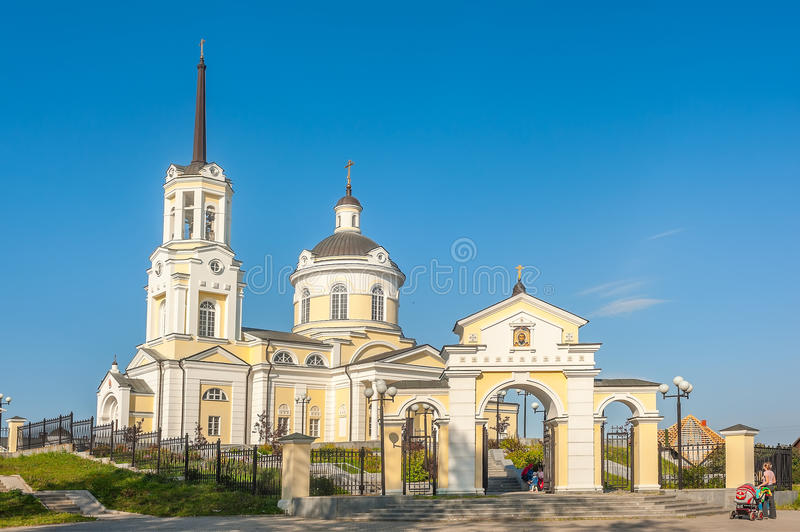 Temple of the Blessed Virgin Assumption. Russia. Church of the Blessed Virgin Assumption. Verkhnyaya Pyshma. Sverdlovsk region. Russia royalty free stock images