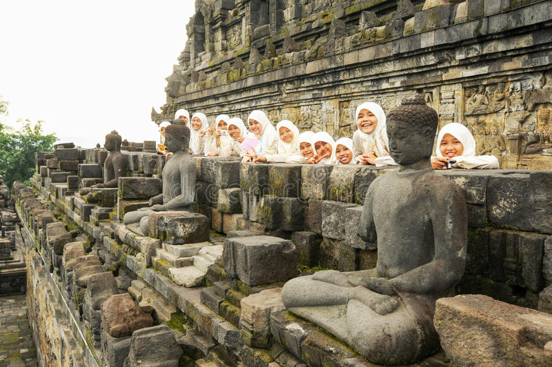 The temple of Borobudur on Java, Indonesia royalty free stock images