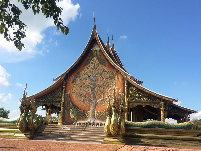 Temple bouddhiste image stock
