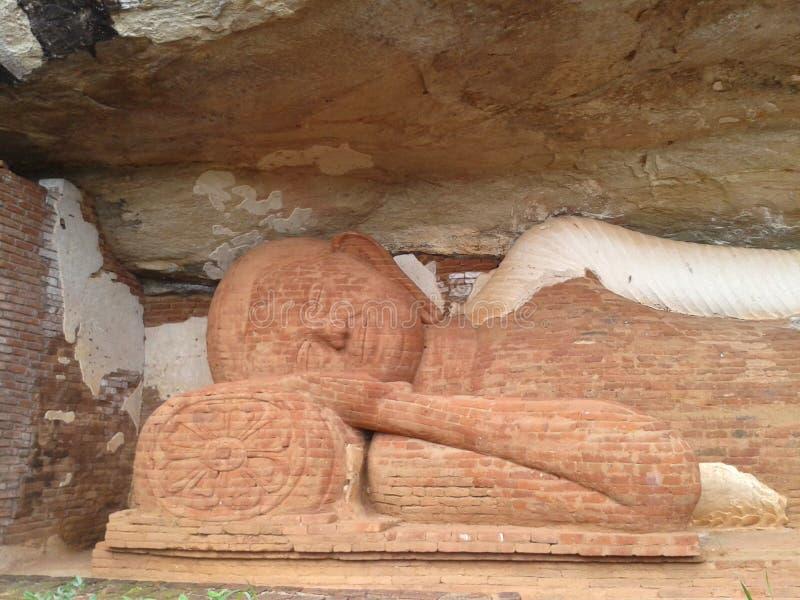 Temple bouddhiste d'Anciant au Sri Lanka images stock
