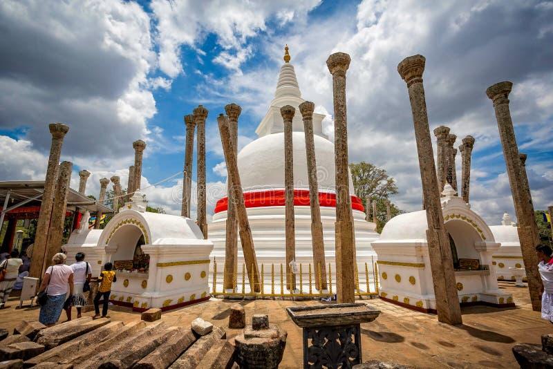 Temple bouddhiste dans Anuradhapura, Sri Lanka images libres de droits
