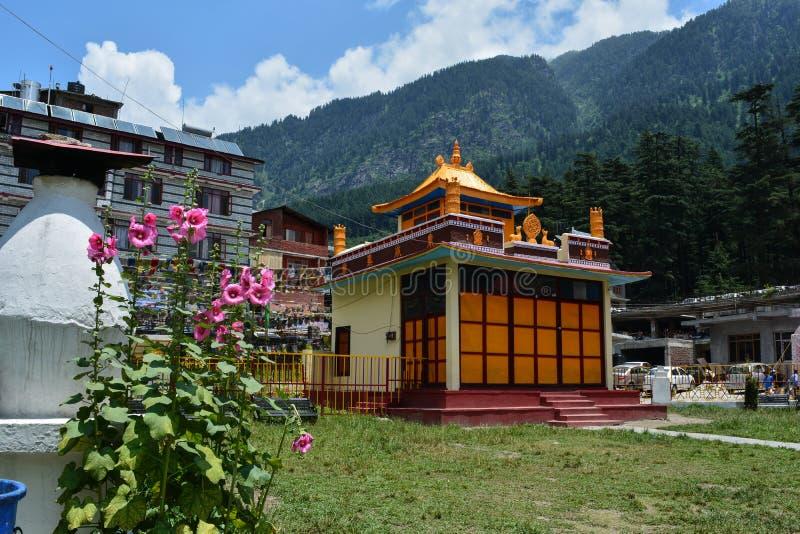 Temple bouddhiste dans le manali image libre de droits