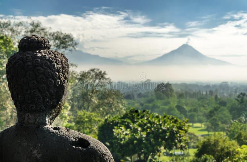 Temple bouddhiste de Borobudur images libres de droits
