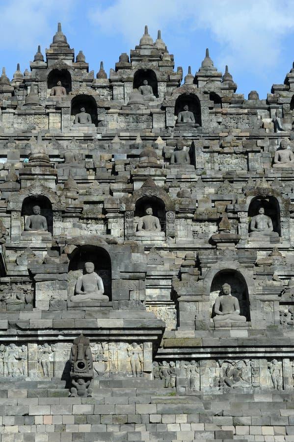 Temple bouddhiste de Borobudur sur l'île de Java photo stock