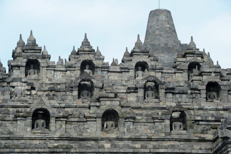 Temple bouddhiste de Borobudur sur l'île de Java photographie stock libre de droits