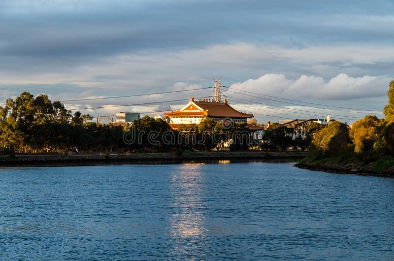 Temple bouddhiste de la Reine merveilleuse dans Footscray, Australie image libre de droits