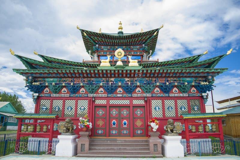 Temple bouddhiste en la Bouriatie photo libre de droits