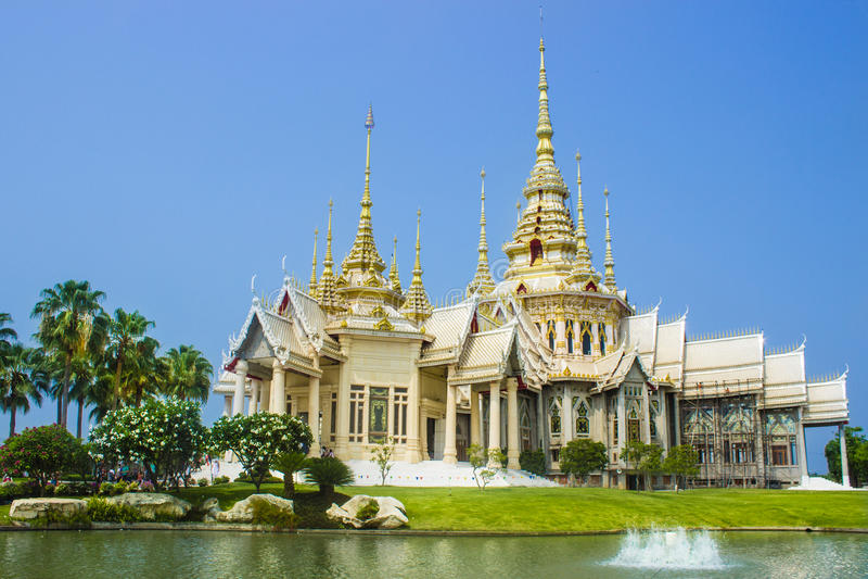 Temple bouddhiste Khorat photo stock