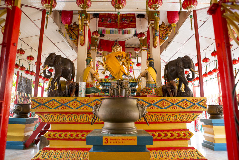 Temple bouddhiste thaï image stock