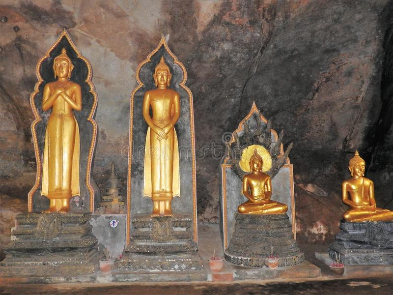 Temple and Buddha statues in Thailand, religion.  royalty free stock photo