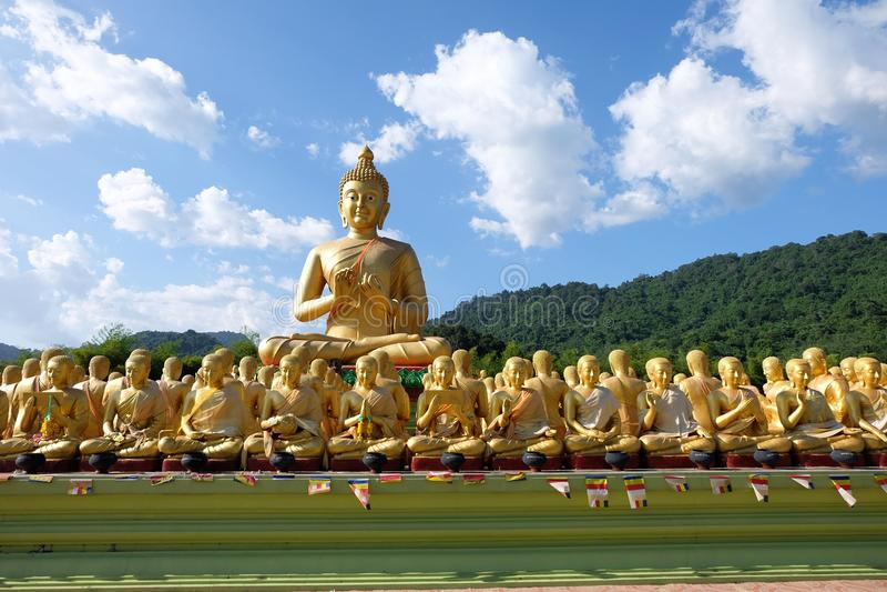 The temple of buddha Thailand stock photos