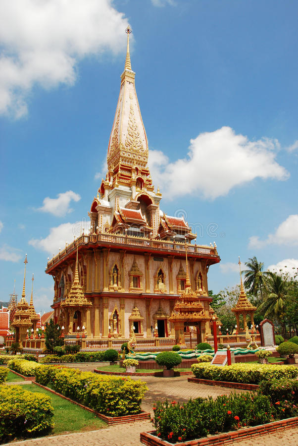 Temple Buddhist. Wat Chalong Temple Phuket, Thailand royalty free stock images