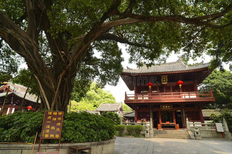 Temple building at the Guangxiao Temple,Guangzhou. stock photography
