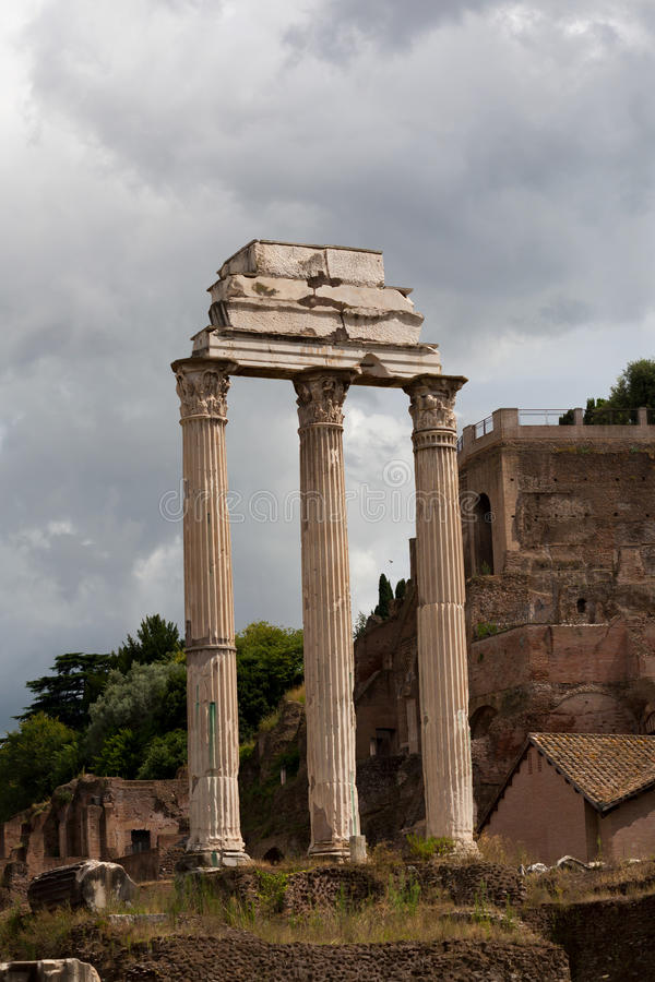 Temple of Castor and Pollux royalty free stock photo