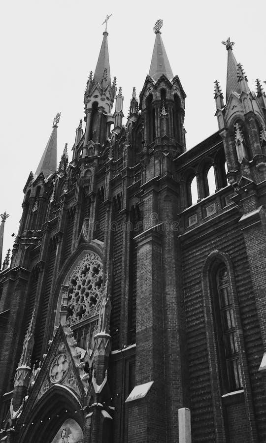 Temple catholique photographie stock libre de droits
