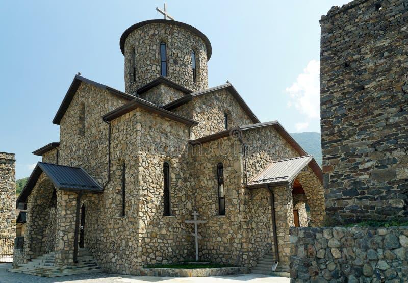 Temple caucasien photographie stock