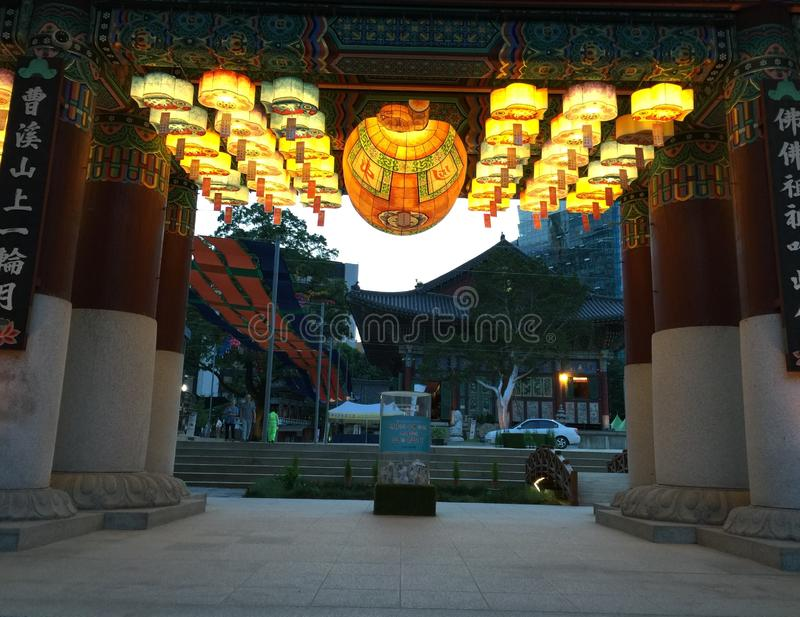 A temple in the center of Soul royalty free stock images
