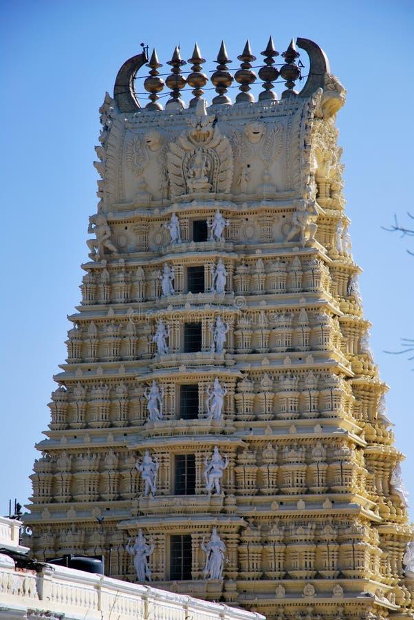 The temple of Chamundeshwari in India stock photos
