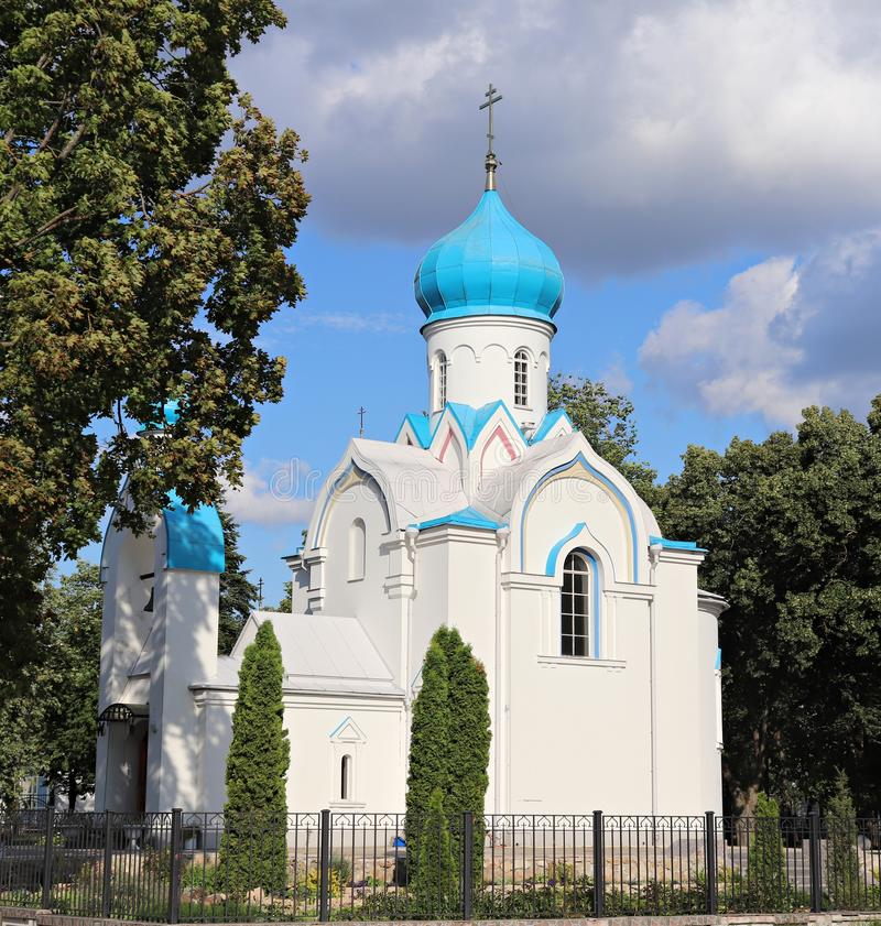 Temple chapel of St. Alexander Nevsky in the city of Daugavpils. Latvia, July 2019.  royalty free stock photo