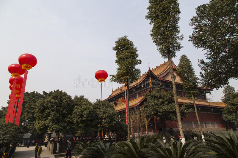 The temple in chengdu,china. The temple is taken in chengdu,china royalty free stock photos