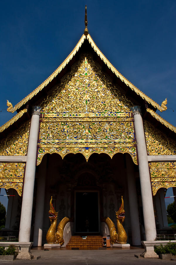 Download Temple in Chiang Mai stock photo. Image of temple, sepia - 14406416