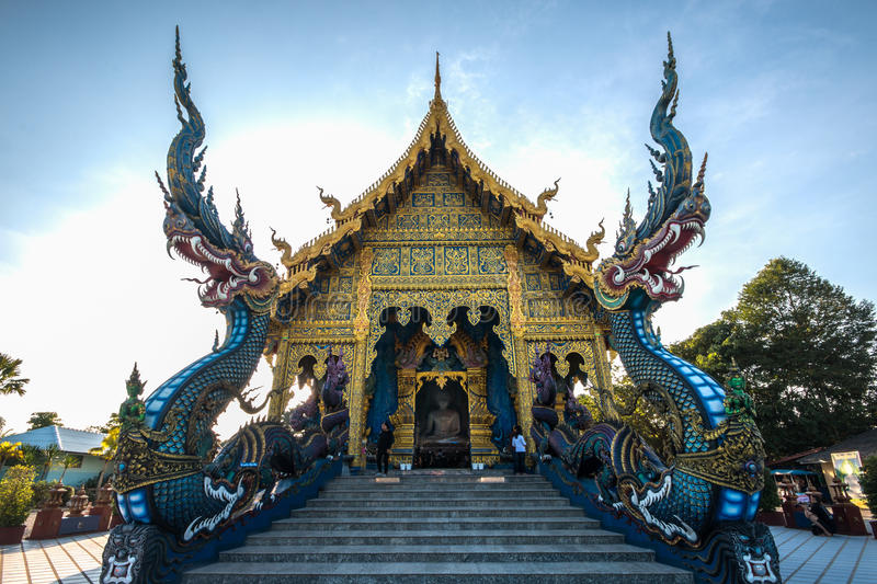 Temple in Chiang Rai Thailand royalty free stock photo