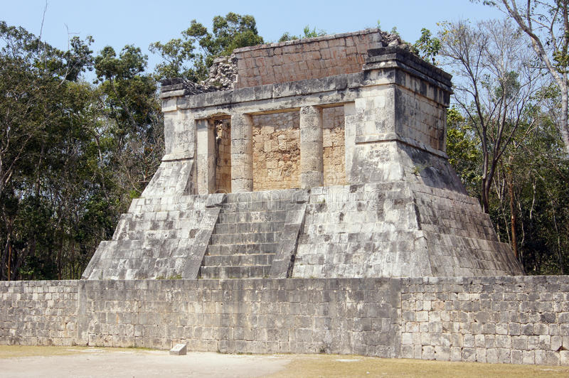 Temple in Chichen Itza, Mexico royalty free stock photography