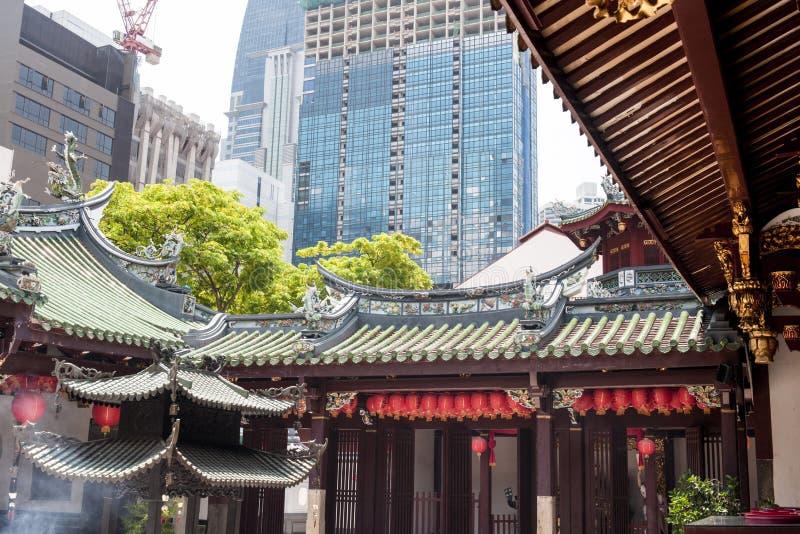 Temple chinois à Singapour photographie stock libre de droits