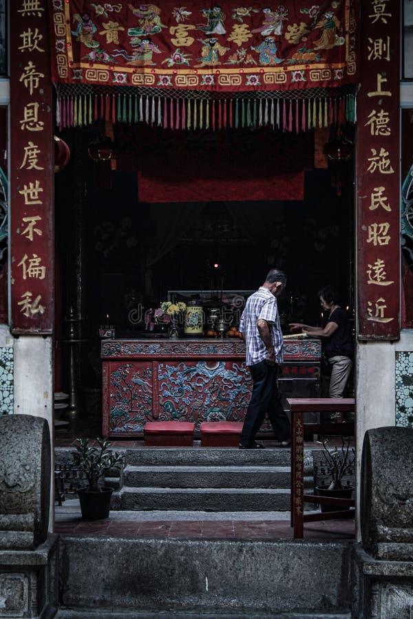 Temple chinois dans Bukit Mertajam images libres de droits