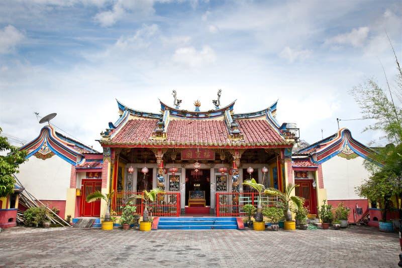 Temple chinois de Klenteng Poncowinatan à Yogyakarta, Java. photographie stock libre de droits