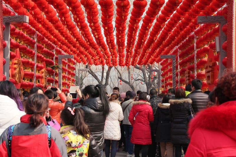 Temple chinois de nouvelle année/festival de printemps juste images stock