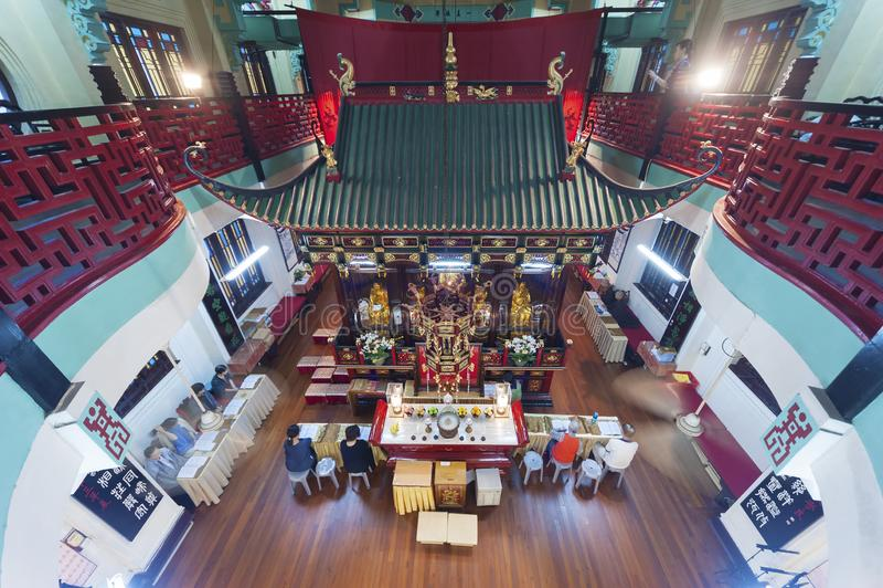 Temple chinois en Hong Kong, Chine photos libres de droits