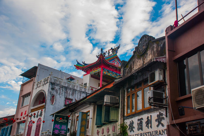 Temple chinois Kuching, Sarawak malaysia borneo photo stock