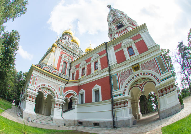 Temple of Christmas in the Shipka Monastery in Bulgaria royalty free stock images