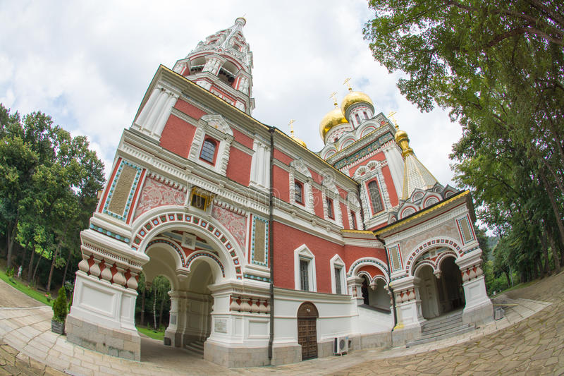 Temple of Christmas in the Shipka Monastery stock photography